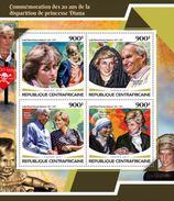 Centrafrica 2017, Diana, J. Paul II, Mandela, Mother Teresa, BF - Mother Teresa