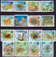 SEYCHELLES 1977-78 SG #404A-19A Compl.set Used No Imprints - Seychelles (1976-...)