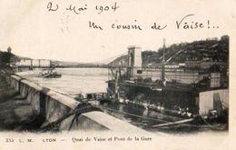 69 - LYON -QUAI DE VAISE ET PONT DE LA GARE - Lyon