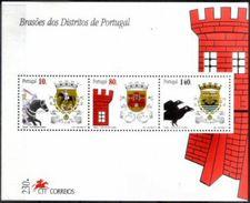 PORTUGAL, 1997, DISTRICT COATINGS, CE#B.185, SS, MNH - Blocchi & Foglietti