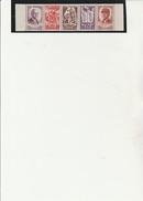 AU PROFIT DU SECOURS NATIONAL -BANDE DE 5 TIMBRES --N° 580 A  -  ANNEE 1943- COTE :155 € - 1941-42 Pétain