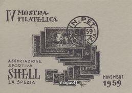 LA SPEZIA - IV MOSTRA FILATELICA SHELL 1959 - La Spezia
