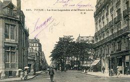 75017  PARIS   LA RUE LEGENDRE  ET LA PLACE LEVIS - Distretto: 17