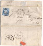 1873 LAC 2 Cachets Convoyeur Station BRIOUZE St GERVAIS & SURDON LAIGLE - Postmark Collection (Covers)