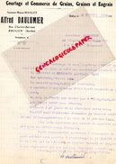 72- BRULON- RARE LETTRE SIGNEE ALFRED DAULUMIER-MAISON BOUGLET-RUE CHARLES BARREAU-GRAINS GRAINES HORTICULTURE-FLORE-193 - Agriculture