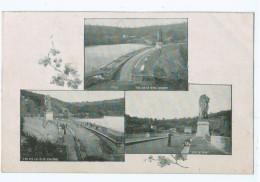 19488   Cpa  Multivues De 1903 De La GILEPPE ! Barrage , Rives Droite Et Gauche Et Sur Le Pont ! - Gileppe (Barrage)