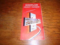 AA2-7 Folder Publicitaire Simplon Orient Express - Train De Luxe (Acheteurs Suisses Bien Lire Mes Cond. De Vente) - Vieux Papiers