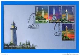 VN 2013-0017, Lighthouses FDC - Vietnam