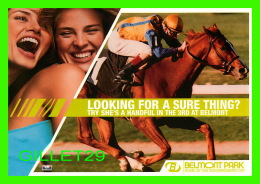 CHEVAUX - HORSES -  BELMONT PARK, HOME OF THE 2001 BREEDERS CUP - GO-CARD - - Chevaux