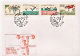 Liechtenstein Set On FDC - Ete 1988: Séoul