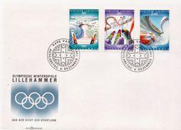 Liechtenstein Set On FDC - Winter 1994: Lillehammer