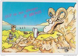 2Y2804 SOURIRE DE CORSE BELIER AU SOLEIL DESSIN LACOMBE 2 SCANS - Humour