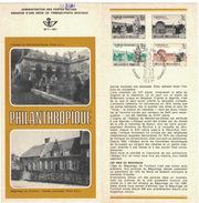 B21    Abbaye De Marche-les-Dames, Béguinage De Turnhout 1971 - Oblitéré Sur Folder Officiel De La Poste - Postdocumenten