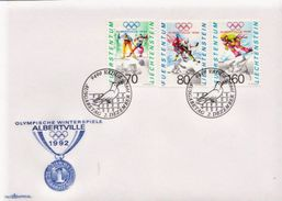Liechtenstein Set On FDC - Winter 1992: Albertville