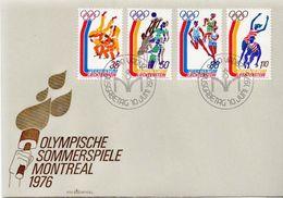 Liechtenstein Set On FDC - Summer 1976: Montreal