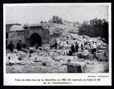 1958  --  THIONVILLE   PORTE DE METZ LORS DE SA DEMOLITION EN 1903   3M830 - Vieux Papiers