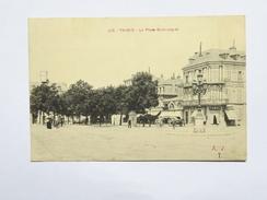 C.P.A. 65 TARBES : La Place Maubourguet, Tabac, Animé - Tarbes