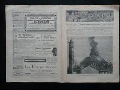 L'Incendio Della Cupola Di San Carlo Milano Pompieri Illustrazione Popolare 1895 - Libri, Riviste, Fumetti