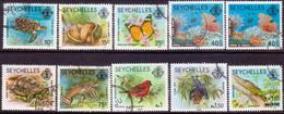 SEYCHELLES 1979-81 SG #405B-14B Part Set Used W/imprints 1979 And 1981 + SG 462 - Seychelles (1976-...)