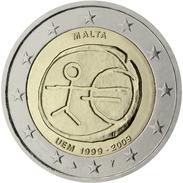 Malte 2 Euro Commémorative. 2009 10ans UE  UNC - Malta