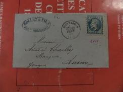 24.11.17-GF  De Montargis,GC 2426 Sur N°29 ,variété A Voir Et Verso - 1863-1870 Napoléon III Lauré