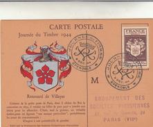 Journée Du Timbre 1944, Carte Postale. Renouard De Villayer. Grenoble - Francia