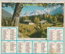 1985 - CALENDRIER ALMANACH Des PTT - Chamonix - Documents Sur L ' Eure - Big : 1981-90
