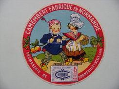 Etiquette Camembert - Les Petits Normands - Fromagerie De Corneville Sur Risle 27 - Normandie  A Voir ! - Fromage