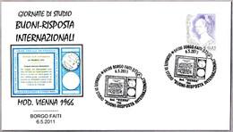 CUPON-RESPUESTA INTERNACIONAL - Int. Reply-coupon - Coupon-reponse Int. Borgo Faiti, Latina, 2011 - Correo Postal