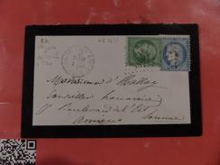 24.11.17-LSC De Estrées-Deniecourt (76) GC 1431, Du 1er Septembre 71,1er Jour Du Tarif!! Rare!! N°20 Et N°37 - Postmark Collection (Covers)