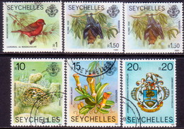 SEYCHELLES 1980-91 SG #487//94 Part Set Used W/face Values Redrawn And Imprints 1980,1982,1991 - Seychelles (1976-...)