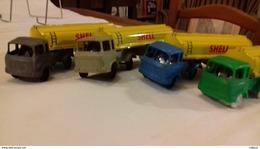 Rare Camion BERLIET BLEU Remorque Citerne SHELL Sésame M.in Fr. - Toy Memorabilia