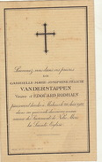 Joséphine Van Der Stappen Veuve Rodhain Malines - Obituary Notices