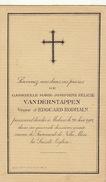 Joséphine Van Der Stappen Veuve Rodhain Malines - Décès