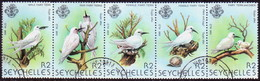 SEYCHELLES 1981 SG #500-01 Compl.set Used In A Strip Of 5 Birds (3rd Series) - Seychelles (1976-...)