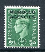 Morocco Agencies - British Currency - 1949 KGVI GB Overprints - ½d Pale Green LHM (SG 77) - Uffici In Marocco / Tangeri (…-1958)