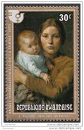 "666 Rwanda 1975 "" - Madre E Bambino "" - Quadro Dipinto Da J. G. Melchers - Nuovo MNH Painting Tableau - Rwanda"