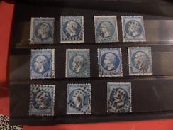 24.11.17-lot De De N°22 Pour Petites Variétés Et Oblitérations,11 Exemplaires - 1862 Napoleon III