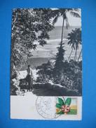 """CPA Iles Wallis- Futuna  Premier Jour Mata-Utu Flore D'Outre-Mer 4/3/ 1958 """"Aux Philatélistes ... Reconnaissants"""" à Voir - Used Stamps"""