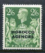 Morocco Agencies - British Currency - 1949 KGVI GB Overprints - 2/6 Yellow-green HM (SG 92) - Uffici In Marocco / Tangeri (…-1958)