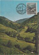 A1. Andorre. Andorra. Carte Maximum Card. Tarjeta Maxima. Mat Primer Dia. - Andorra Española