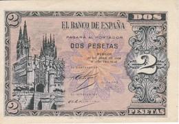 BILLETE DE ESPAÑA DE 2 PTAS  DEL AÑO 1938 SERIE D SIN CIRCULAR-UNCIRCULATED (BANKNOTE) - [ 3] 1936-1975 : Régence De Franco