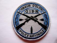 INSIGNE TISSUS PATCH POLICE NATIONALE GIPN TIREUR D'ELITE SUR VELCROS - Police