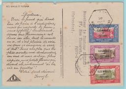 Col.13  CP = Arbre à Pain = Texte. Cachet Hexagonal  Mata-Utu Wallis Et Futuna  28 Juin 29 Affr- Tricolore. - Wallis Und Futuna