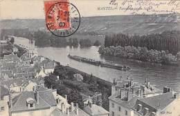 78 - MANTES ( LA JOLIE ) : Panorama Sur La Seine Péniches - CPA - ( Barge Lastkähne Aken Chiatte Barcazas Barcaças ) - Mantes La Jolie