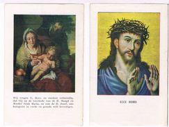 Devotieprentjes 2 Stuks: Heilige Missie Te Ezaart  (2 Scan's) - Images Religieuses