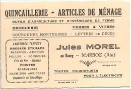 """Quicaillerie - Articles De Ménage """"Jules MOREL"""" à MARBOZ - Autres Communes"""