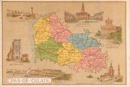 Chromo Chicorée G. Black A La Cantinière Française Département Du Pas-de-Calais (62) Béthune Boulogne-sur-Mer Arras - Tea & Coffee Manufacturers