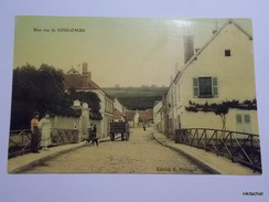 Une Rue De COULOMBS-Carte Toilée Couleur - Altri Comuni