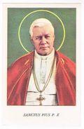 Heiligprentje : Heiligverklaring Van  Paus Pius P. X  1955 (2 Scan's) - Images Religieuses